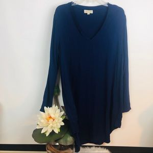 Cloth & Stone | long sleeve tunic dress sz L